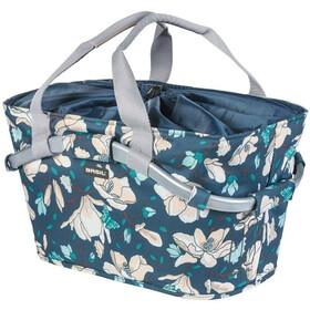 Basil Magnolia Carry All Rear Wheel Basket, teal blue